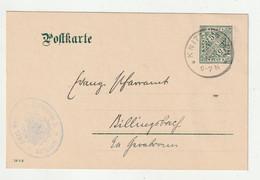 """Wuerttemberg - 1910 - Dienstpostkarte K1 """"KNITTLINGEN"""" (2662) - Wurttemberg"""