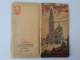 1947 Plan De La Ville D' Anvers Antwerpen Guide Et Indicateur Des Rues - Antwerpen