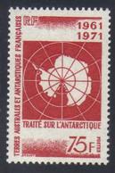 T.A.A.F 10e Anniversaire Du Traité Sur L' Antarctique  75 F. Rouge N° 39** Neuf - Nuovi