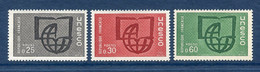 ⭐ France - Timbres De Service - YT N° 36 à 38 ** - Neuf Sans Charnière - 1966 ⭐ - Nuovi