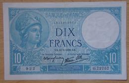 France - 10 Francs Minerve 21-9-1939 - 10 F 1916-1942 ''Minerve''