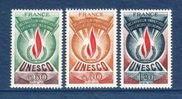 ⭐ France - Timbres De Service - YT N° 43 à 45 ** - Neuf Sans Charnière - 1975 ⭐ - Nuovi