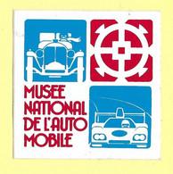AUTOCOLLANT STICKER - MUSÉE NATIONAL DE L'AUTOMOBILE MULHOUSE - Stickers