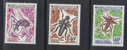 T.A.A.F Timbres Insectes 3 Valeurs N° 40 à 42** Neuf - Nuovi