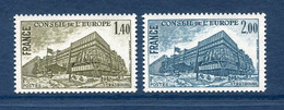⭐ France - Timbres De Service - YT N° 63 Et 64 ** - Neuf Sans Charnière - 1980 ⭐ - Nuovi
