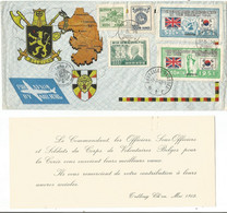 KOREA 500 WON BRITAINX2+ 1000+300+100 LARGE COVER T'ALBOURG CH'ON MAI 1952 TO BELGIUM - Korea, South