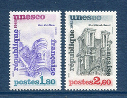 ⭐ France - Timbres De Service - YT N° 71 Et 72 ** - Neuf Sans Charnière - 1982 ⭐ - Nuovi