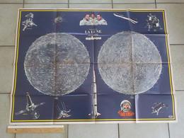 Poster Géant D' Un Ancien Journal De Spirou La Lune Ranger 7 Surveyvor Lunik III Soyouz USA Saturne 5 Gagarine - Spirou Magazine