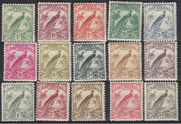 NEW GUINEA 1932, SG# 177-189, CV £250, Birds, MH - Papúa Nueva Guinea