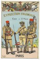 Carte Signée Pierre-Albert LEROUX - Exposition Coloniale PARIS - Camp De St-Maur... - Uniforms