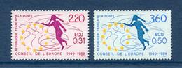 ⭐ France - Timbres De Service - YT N° 100 Et 101 ** - Neuf Sans Charnière - 1989 ⭐ - Nuovi