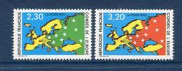 ⭐ France - Timbres De Service - YT N° 104 Et 105 ** - Neuf Sans Charnière - 1990 ⭐ - Nuovi
