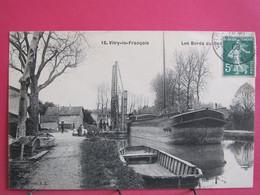 51 - Vitry Le François - Les Bords Du Canal - 1908 - Excellent état - R/verso - Vitry-le-François