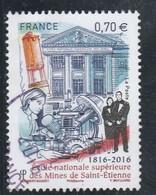 FRANCE 2016 ECOLE NAT SUP DES MINES DE SAINT ETIENNE OBLITERE A DATE YT 5066 - Used Stamps