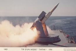 CP PHOTO (bateau De Guerre)  TIR D UN MISSILE TARTAR 1984 - Warships