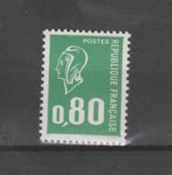 FRANCE / 1976 / Y&T N° 1891 ** : Béquet 80c Vert Typo (1 Bande PHO) - Gomme Métropolitaine X 1 - Unused Stamps