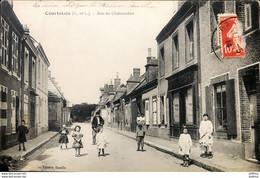 COURTALAIN ARROU DROUE 28 RARE  Rue De Chateaudun - Courtalain