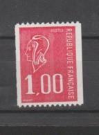 FRANCE / 1976 / Y&T N° 1895 ** : Béquet 1F Rouge (de Roulette Sans N° Rouge) X 1 - Unused Stamps