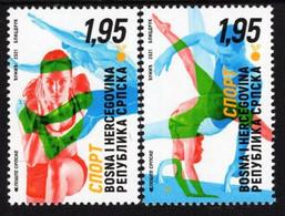 Bosnia & Herzegovina - Republika Srpska - 2021 - Sport - Olympic Team - Mint Stamp Set - Bosnia And Herzegovina