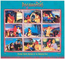 MWD-BK4-246-1 MINT PF/MNH ¤ GUYANA 1995 9w In Sheet ¤ THE WORLD OF WALT DISNEY - POCAHONTAS - Disney