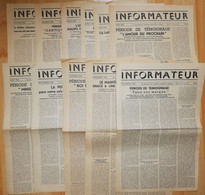 Rare Lot 11 Numéro De 1948 Publication Informateur Paris  Watch-Tower Bible Témoins Jéhovah Usa Russell - Religion