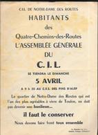 Toulon - C.I.L Se Notre-Dame Des Routes - Tract Invitation Réunion - Plan - Liste Des Délégués - Other Plans