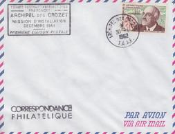 Crozet 30/1/62 Sur N° 19 (Charcot) + Mission D'installation, 1° Liaison Postale  (date Rare) - Brieven En Documenten