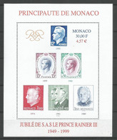 Bloc   Monaco  En Neuf ** N 83  Vendu Au Prix De La Poste - Blocks & Sheetlets