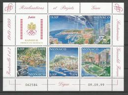 Feuillet   Monaco  En Neuf ** N 2221/2224  Vendu Au Prix De La Poste - Unused Stamps
