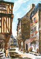 Art - Peinture - Les Aquarelles De Bretagne - Vieilles Maisons Pittoresques - Dinan - CPM - Voir Scans Recto-Verso - Pittura & Quadri
