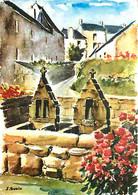 Art - Peinture - Les Aquarelles De Bretagne - St Gilles Pligeaux - Oratoires - Les Fontaines Jumelles - CPM - Voir Scans - Pittura & Quadri