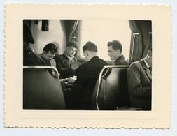 Snapshot 4 Homme Quatuor Carte Joueur Train Man Men 40s Superbe Playboy - Personnes Anonymes