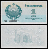 UZBEKISTAN BANKNOTE - 1 SUM 1992 (1993) P#61 UNC (NT#06) - Uzbekistan