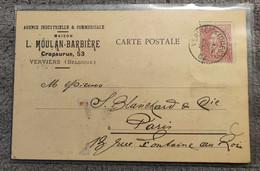 VERVIERS - Maison L. Moulan- Barbière Agence Industrielle Commerciale - Unclassified