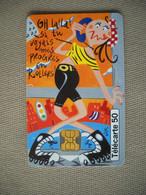 6952 Télécarte Collection  Humour Dessin Animé  N° 2 Le Roller ( Recto Verso)  Carte Téléphonique Sport - Personaggi