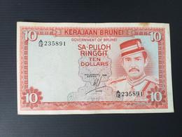 BRUNEI-10 DOLLARS 1981 - Brunei