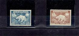 GROENLAND - TP N°7 ET N°9 XX TTB - 1938 - Ungebraucht