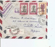 Congo Belge ( Lettre Recommandée De 1951de Léopoldville Vers La Belgique à Voir) - 1947-60: Storia Postale