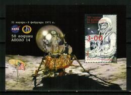 BULGARIA 2021 SPACE Famous Astronauts. NASA. Apollo 14. 100th Birth Anniversary Of JOHN GLENN - Fine S/S MNH - Nuevos