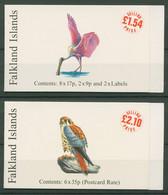 Falkland 1998 Vögel Sittich Falke Markenheftchen 725/27 MH Postfrisch (C29173) - Islas Malvinas