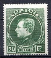 BELGIQUE - 1929-32 - N° 290 - 20 F. Vert - (Albert 1er) - 1929-1941 Groot Montenez