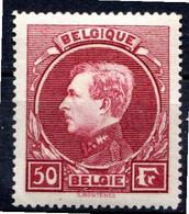 BELGIQUE - 1929-32 - N° 291 - 50 F. Lie-de-vin Vif - (Albert 1er) - 1929-1941 Groot Montenez