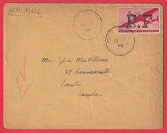 POSTE AERIENNE MILITAIRE N°1 ALGER TYPE I ALGERIE POUR TORONTO CANADA 1944 - Military