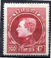BELGIQUE - 1929-32 - N° 292 - 100 F. Carmin Clair - (Albert 1er) - 1929-1941 Groot Montenez