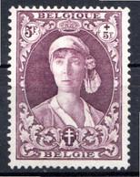 BELGIQUE - 1931 - N° 332 - 5 F. + 5 F. Violet-brun - (Effigie De La Reine Elisabeth) - 1929-1941 Groot Montenez