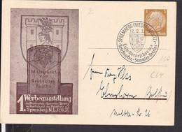 Privatganzsache Werbeausstellung Briefmarkensammlerverein Spremberg 1937 , Sonderstempel - Stamped Stationery