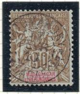 37CRT79- MADAGASCAR 1900 -  Yvert N. 47 Usato. - Used Stamps