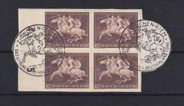 Deutsches Reich 1941 Braunes Band Mi.-Nr. 781 Viererblock Gest. Auf Briefstk. - Zonder Classificatie