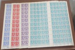 France - 1942 - N°Yv. 546 à 549 - Mercure - Série En Feuilles Complètes - Neuf Luxe ** / MNH / Postfrisch - Ganze Bögen