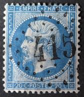 22 Obl GC 415 Bégard (21 Cotes Du Nord ) Ind 5 ; Frappe Très Nette Et Centrée - 1849-1876: Classic Period